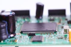 Microprocesador electrónico a bordo Imagen de archivo