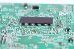 Microprocesador electrónico a bordo Imagenes de archivo