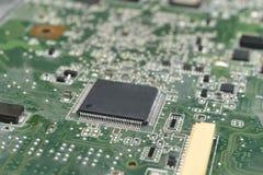 Microprocesador en la placa madre Imagen de archivo