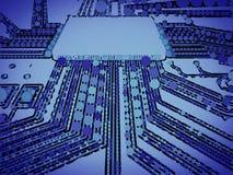 Microprocesador ilustrado Imagen de archivo libre de regalías