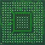 Microprocesador inferior de BGA Fotografía de archivo