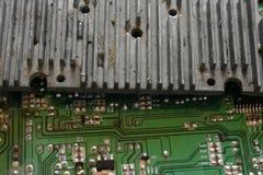 Microprocesador, microcircuito, microchip, circuito integrado Fotos de archivo