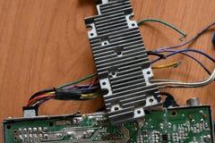 Microprocesador, microcircuito, microchip, circuito integrado Foto de archivo