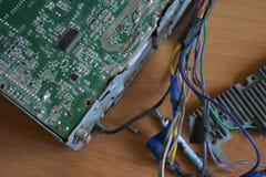 Microprocesador, microcircuito, microchip, circuito integrado Foto de archivo libre de regalías
