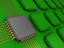 Microprocesador principal Imagen de archivo libre de regalías