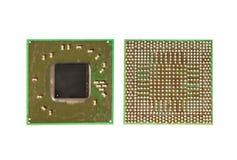 Microprocesador superficial del circuito integrado del soporte imágenes de archivo libres de regalías