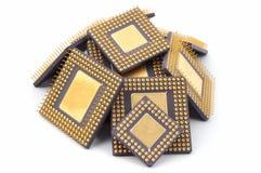 microprocesadores Aislado en blanco Foto de archivo libre de regalías