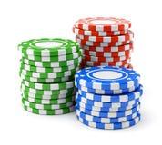 Microprocesadores coloridos del casino Imagenes de archivo