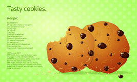 Microprocesadores de chocolate de las galletas Fotos de archivo libres de regalías
