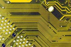 Microprocesadores de la placa madre del ordenador Imágenes de archivo libres de regalías