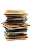 Microprocesadores de ordenadores aislados Imagen de archivo libre de regalías
