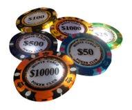 Microprocesadores del casino aislados en el fondo blanco ilustración del vector