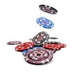 Microprocesadores del casino Fotografía de archivo libre de regalías