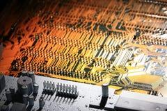 Microprocesadores del fondo de la electrónica Fotos de archivo libres de regalías