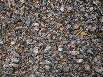 Microprocesadores del granito y piedra machacada asperjada Foto de archivo