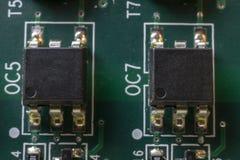 Microprocesadores en el tablero imágenes de archivo libres de regalías