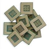 Microprocesadores polvorientos viejos Fotos de archivo