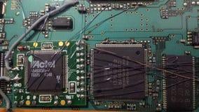 Microprocesadores y circuitos electrónicos fotografía de archivo libre de regalías