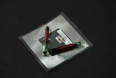 Microprocesadores y etiquetas del RFID Fotografía de archivo libre de regalías