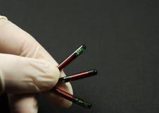 Microprocesadores y etiquetas del RFID Imagen de archivo libre de regalías