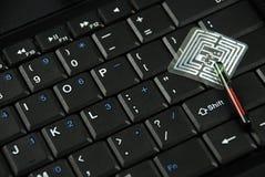 Microprocesadores y etiquetas del RFID Fotografía de archivo