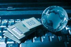 Microprocessadores centrais para um computador Imagens de Stock