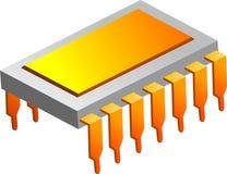 Microprocessor Royalty Free Stock Photo