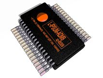 Microprocessor Royalty Free Stock Image