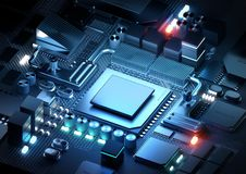 Free Microprocessor And CPU Technology Concept Royalty Free Stock Photography - 154699587
