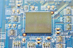 Microprocessor on board Royalty Free Stock Photos