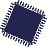 Microprocessor chip cpu. Computer vector Royalty Free Stock Photos