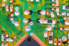 Microprocessor circuit board macro shot Stock Photo