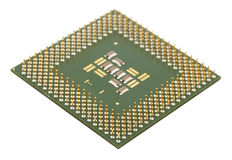 Microprocessor for computer Stock Photos