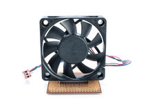 Microprocessor and fan Royalty Free Stock Photography