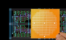 Microprocessor layout and chip mask Stock Images