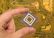 Microprocessor ter beschikking en PCB stock afbeeldingen