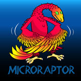 Microraptor cute character dinosaurs Royalty Free Stock Photography
