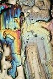 Microscópio-arte com cristais de ardência imagem de stock