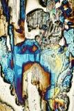 Microscópio-arte com cristais de ardência fotos de stock