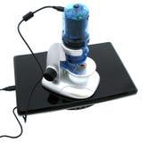 Microscópio de elétron barato imagens de stock