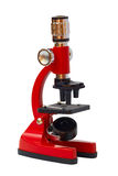 Microscópio vermelho Foto de Stock Royalty Free