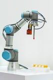 Microscan visar den industriella robotic maskinen genom att använda Visien Royaltyfri Bild