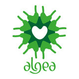 Microscobic Algea Icon and Logo Design Stock Image