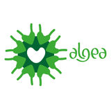 Microscobic Algea Icon and Logo Design Royalty Free Stock Images