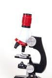 Microscoop, het werkhulpmiddel Royalty-vrije Stock Afbeeldingen