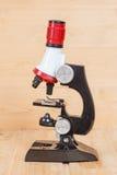 Microscoop, het werkhulpmiddel Stock Foto