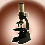 Microscope. Image of a microscope suitable for scientific images Royalty Free Stock Photos