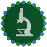 Microscope. Illustration of a microscope. Medicine, science and research symbol Royalty Free Stock Image