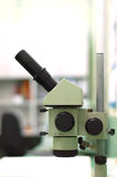 Microscope. In the laboratory of  science Stock Photos