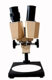 Microscope. A laboratories binocular microscope for observation Royalty Free Stock Image